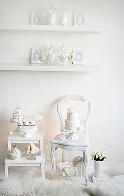 {Pure White} Wedding Dessert Table