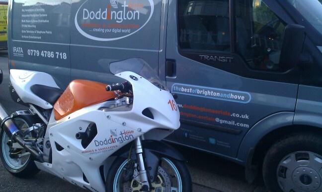 Doddington aerials van and track bike