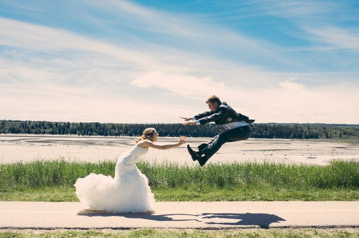 We had to.   #wedding #hadouken #photo #awesome #bride #groom #dress #suit #photography #jumping
