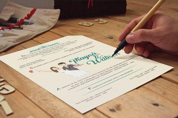 - Um casamento cheio de significados .  .. e um convite para ilustrar toda a paixão dos noivos !