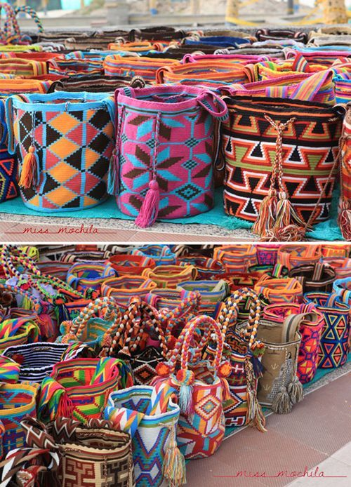 Miss Mochila. Handwoven by the Wayuu people of South America. The colors are wonderful!