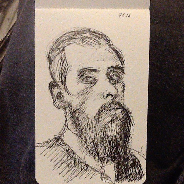 Redditor with a #beard #drawing #sketch #portrait #tw