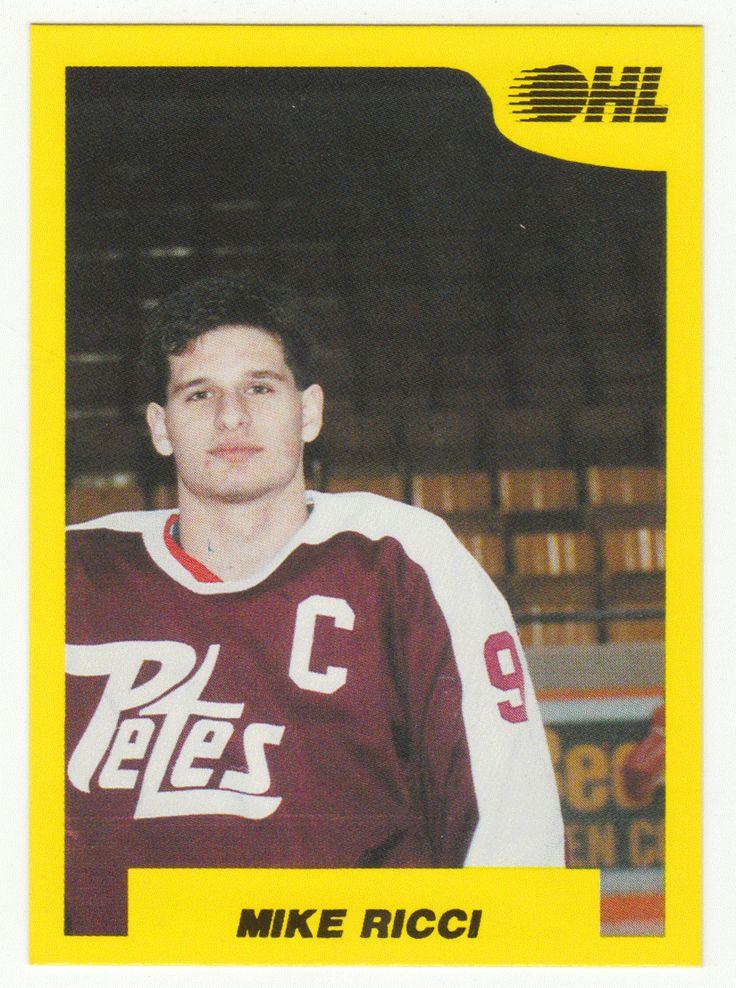 Mike Ricci # 183 - 1989-90 7th Inning Sketch OHL Hockey