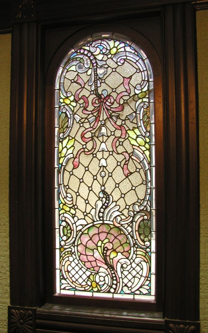 Beautiful stained glass window from the Winchester House of Mystery...