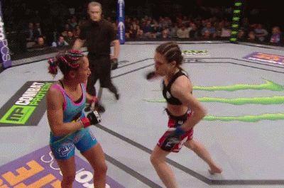 Joanna Jedrzejczyk Beats Up Carla Esparza UFC 185 MMA Gif