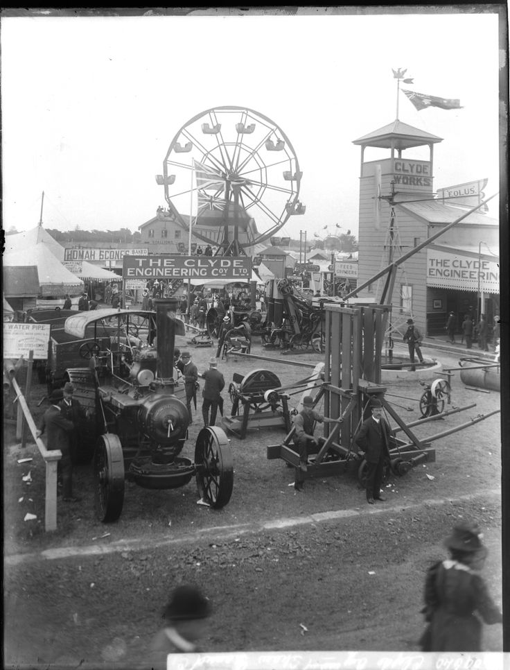 Clyde Pavilion at the Sydney Royal Easter Show, near Moore Park, Sydney. ca.1898-1909.  v@e.