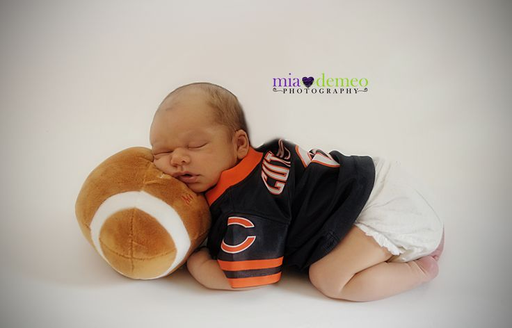 Chicago bears baby by Mia DeMeo photography