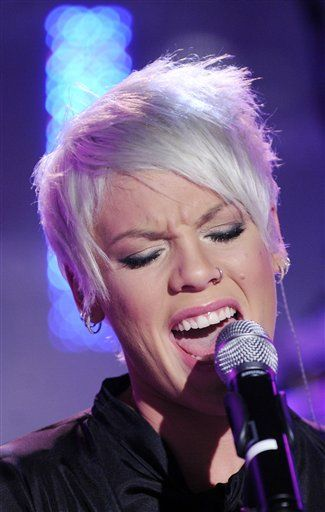 """Singer Pink performs on the NBC """"Today"""" television program,"""