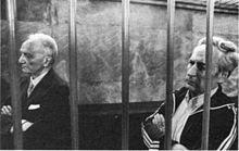 Michele Sindona e Robert Venetucci alla sbarra durante il processo (fonte: http://it.wikipedia.org/wiki/Giorgio_Ambrosoli)