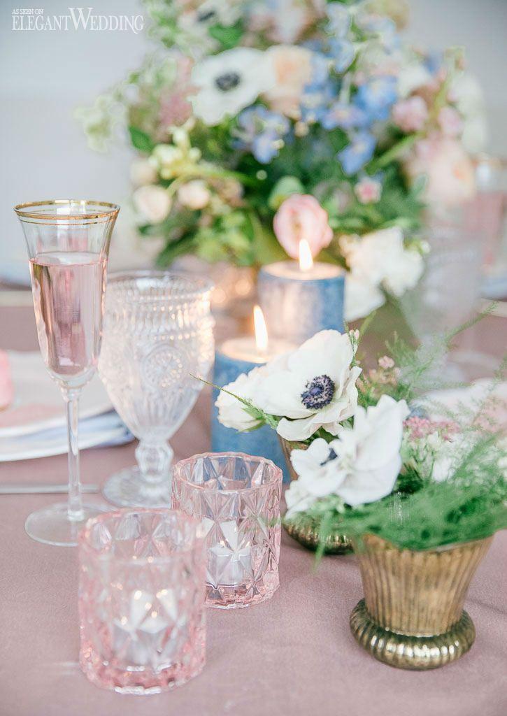Romantic Blue Blush Wedding Inspiration Blue Wedding