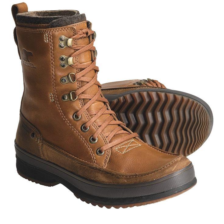 Sorel Kingston Peak Boots - Waterproof, Leather (For Men) in Cinnamon