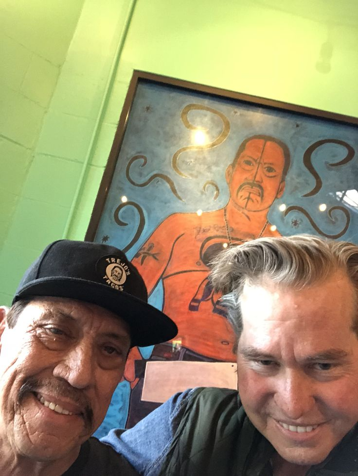 """~ Val Kilmer :"""" Me and #DannyTrejo look like old turtles... I love this guy so much. He makes you laugh till your sides ache...."""" - (@valkilmer) 