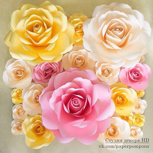 Небольшой анонс цветочной стены, мне безумно нравится это сочетание цветов…