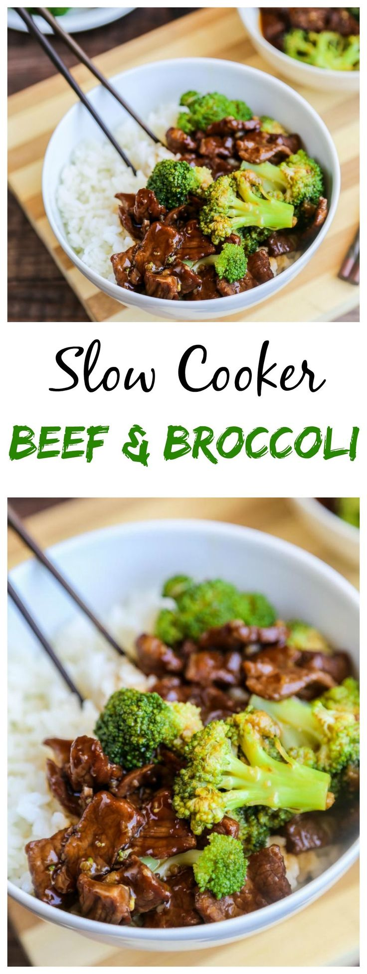 Slow cooker Beef & Broccoli. This is much better than take out!