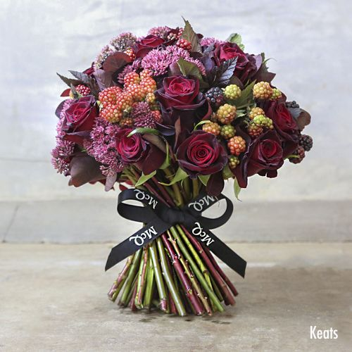 Beautiful new autumnal collection of bouquets from McQueens