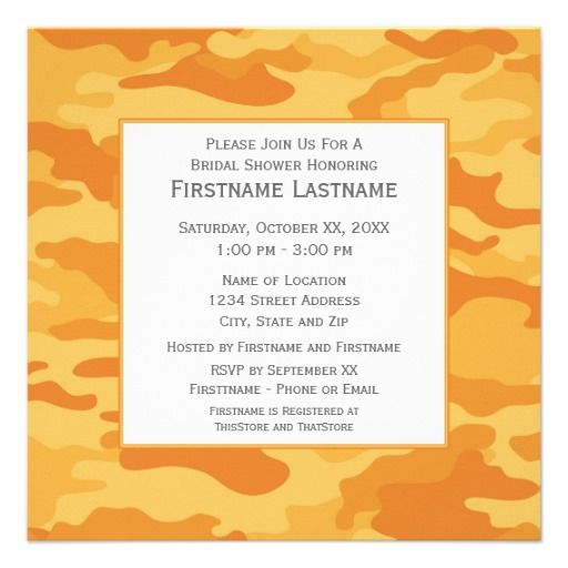 =>>Cheap          Camo Bridal Shower or Engagement Party Personalized Announcement           Camo Bridal Shower or Engagement Party Personalized Announcement in each seller & make purchase online for cheap. Choose the best price and best promotion as you thing Secure Checkout you can trust Buy...Cleck See More >>> http://www.zazzle.com/camo_bridal_shower_or_engagement_party_invitation-161113953889228671?rf=238627982471231924&zbar=1&tc=terrest