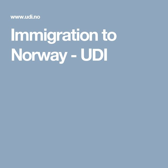 Immigration to Norway - UDI