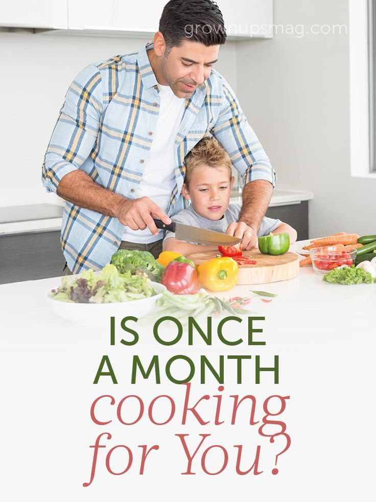 Is Once a Month Cooking for You? - Grown Ups Magazine - If daily cooking is dragging you down, prepping and cooking food once a month can help!