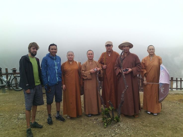 with buddist from china