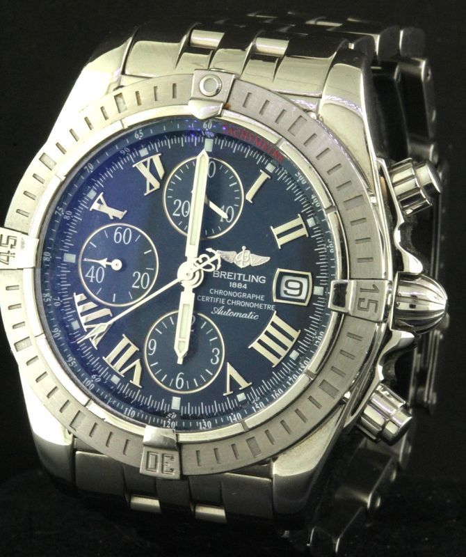 Breitling Chronomat Evolution A13356 SS automatic chronograph