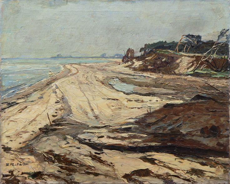 Plaża nad Morzem Bałtyckim Erich von Perfall