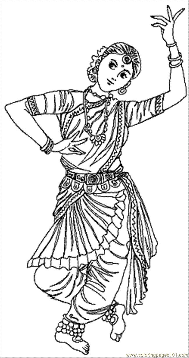 dancing girls coloring pages - photo#46