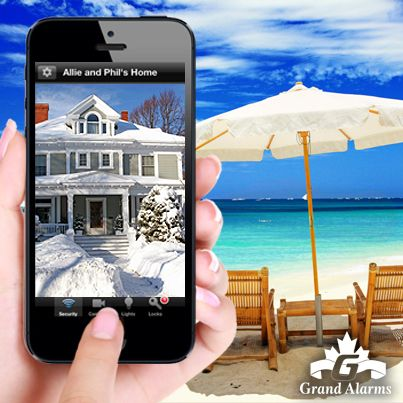 Taking a vacation this winter?  Make sure your home is secured while your away. Grand Alarms Smart Home technology allows you to view your live home cameras from anywhere in the world using your smart phone, computer, or laptop. Be connected, be secure. Visit http://www.grandalarms.com for more information.