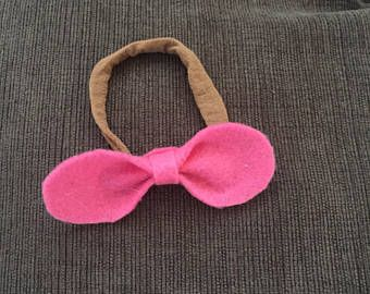 Handmade Rounded felt bow headband