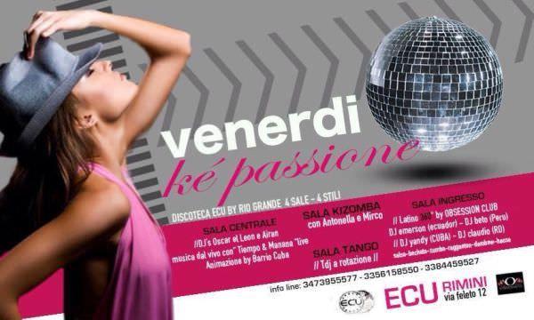Tutti i venerdì all'Ecu Rimini è notte latina. Tanti ospiti e tante piste da ballo per divertirsi con ogni genere di ballo caraibico.