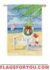 Holiday Beach Chair Garden Flag - 9 left