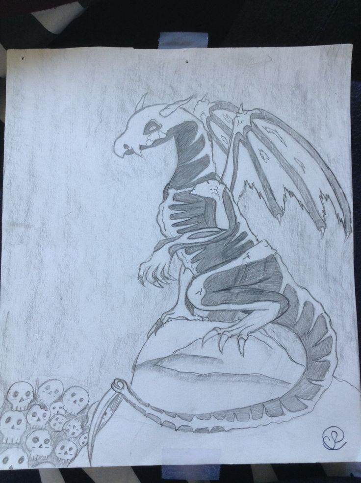My 11th grade skeletal dragon