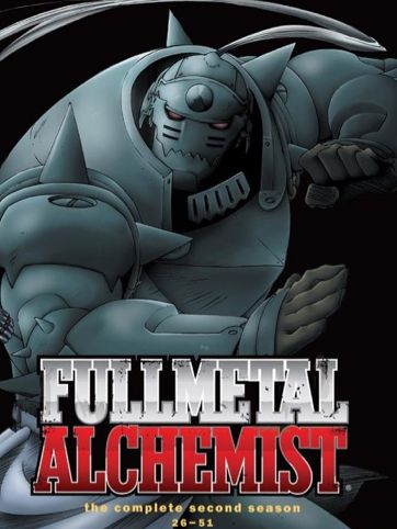 FMA Season 2 DVD Box set  FOUND: WalMart, Best Buy, http://www.amazon.com/Fullmetal-Alchemist-Season-Vic-Mignogna/dp/B001OMZYDG/ref=cm_lmf_img_2