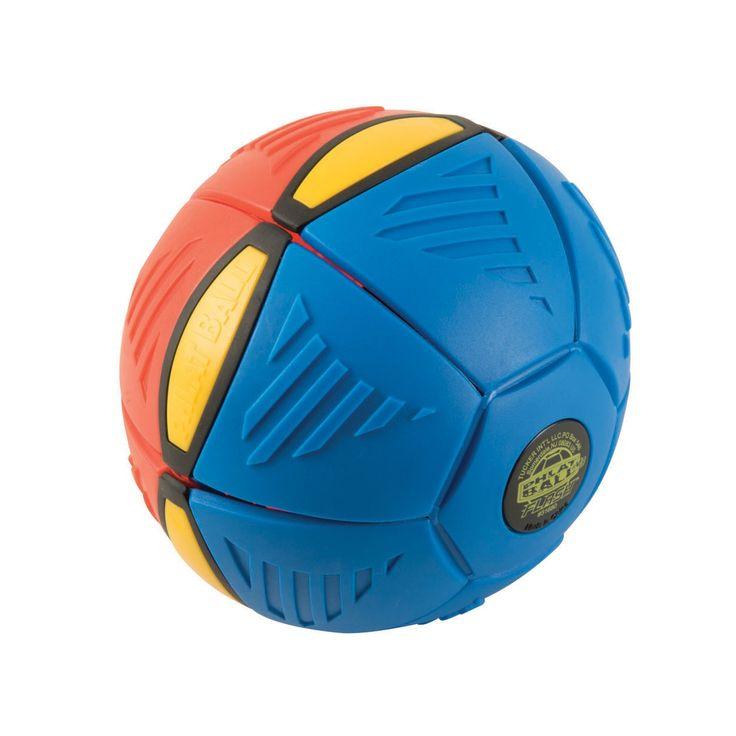 Laat je verrassen tijdens het spelen met deze phlat ball met LED! Plet de bal door de zijden stevig tegen elkaar aan te drukken en gooi over met de schijf. Pop! De schijf springt vanzelf open tot een bal en de LEDs beginnen te knipperen! De phlat ball is gemaakt van flexibel blauw/rood kunststof en is gemakkelijk mee te nemen in je tas.Afmeting:  22,5 x 22,5 x 3 cm - Phlat Ball Flash LED - Blauw/Rood