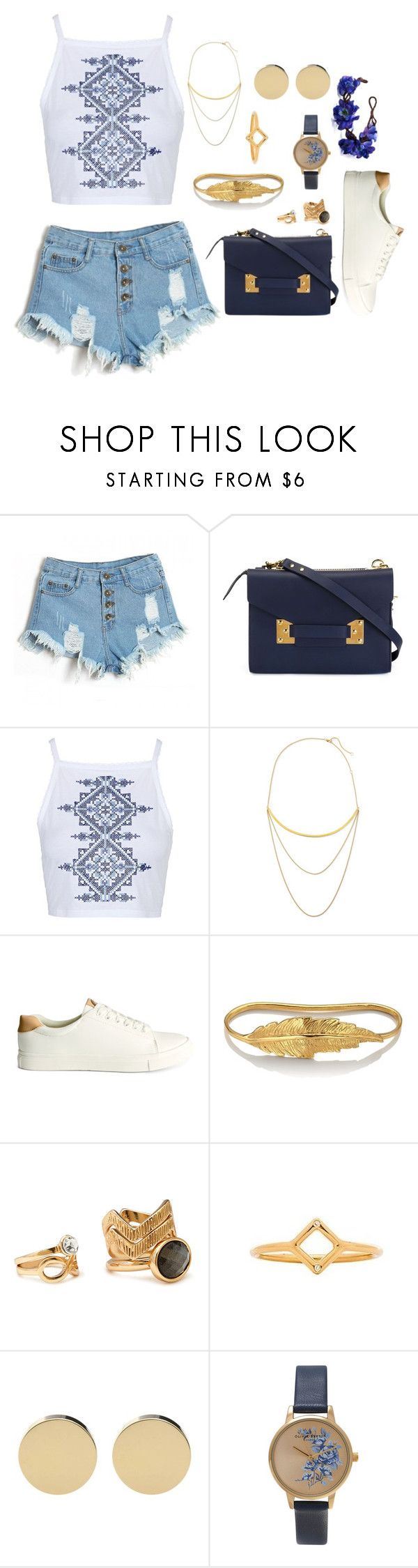 """Last Days of Summer"" by thenerdyfangirl ❤ liked on Polyvore featuring Sophie Hulme, Topshop, Jennifer Zeuner, H&M, LeiVanKash, Forever 21, Gorjana and Olivia Burton"