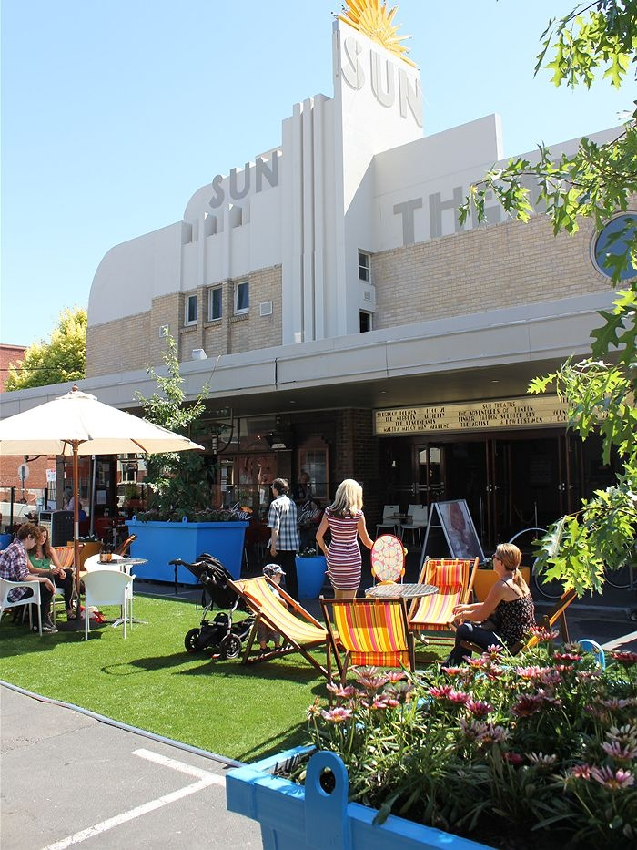 Pop-up park in my favourite western suburb of Melbourne, Yarraville