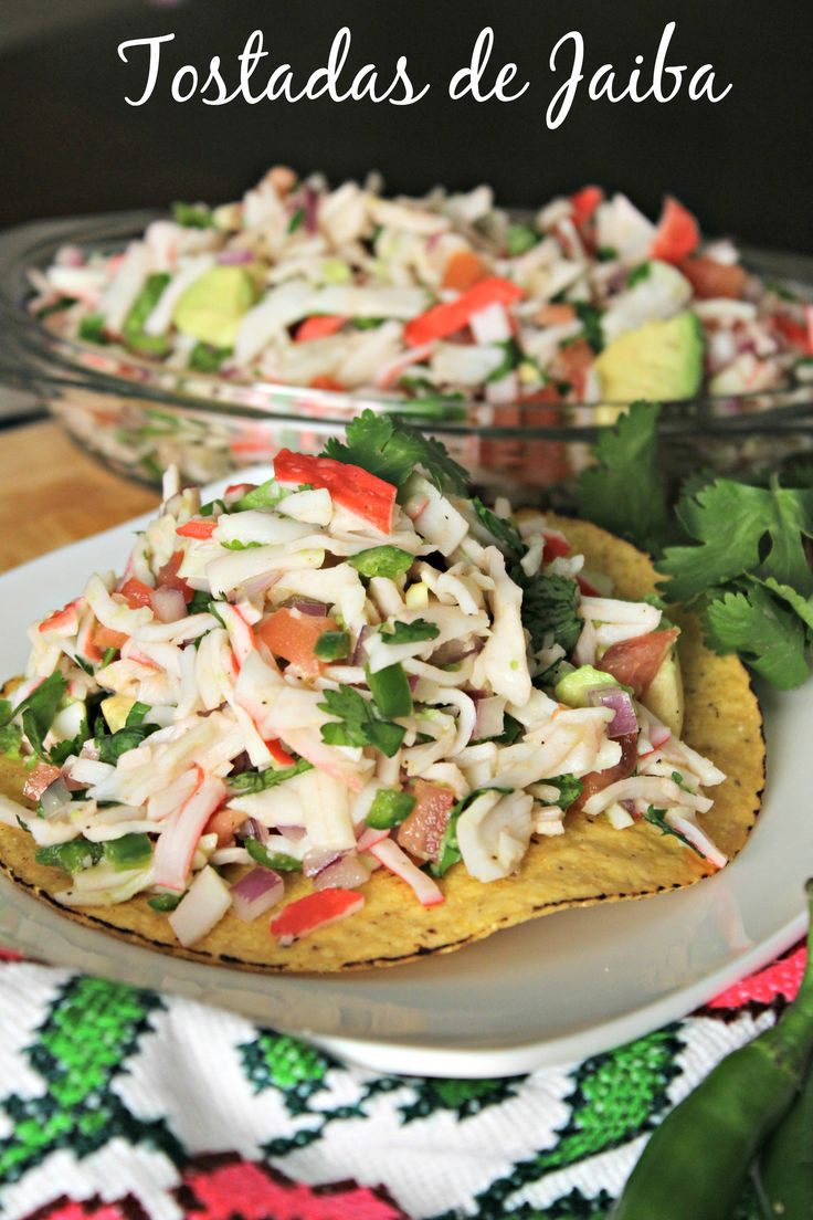 Tostadas de Jaiba | Spanglish Mama's Mexican Cooking ...