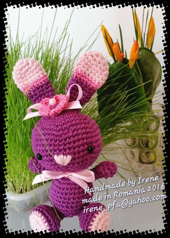Crochet amigurumi bunny toy