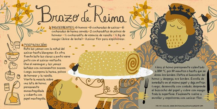 Cositas Ricas Ilustradas por Pati Aguilera: Brazo de Reina