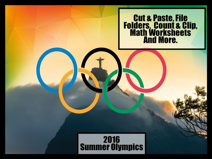 The Summer Olympics start Aug 5- Aug 21, 2016. Would you like to start the school year off with fun Olympic themed Worksheets for your students?    Visit my store for lots of no prep resources for preschool, kindergarten and special education.