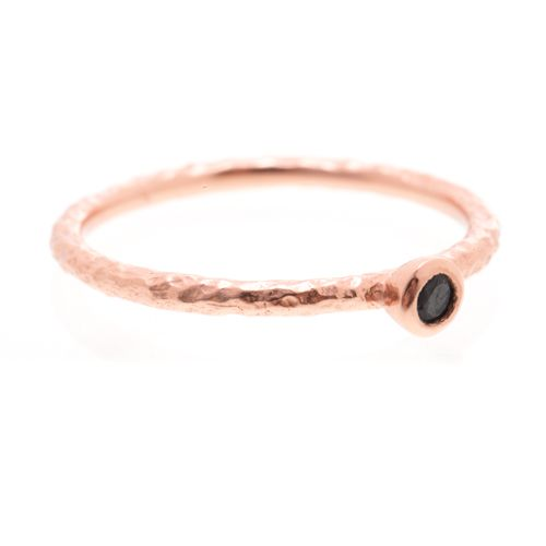 Lily Ring in rose gold with black topaz stone - $50 www.toriandtaz.com