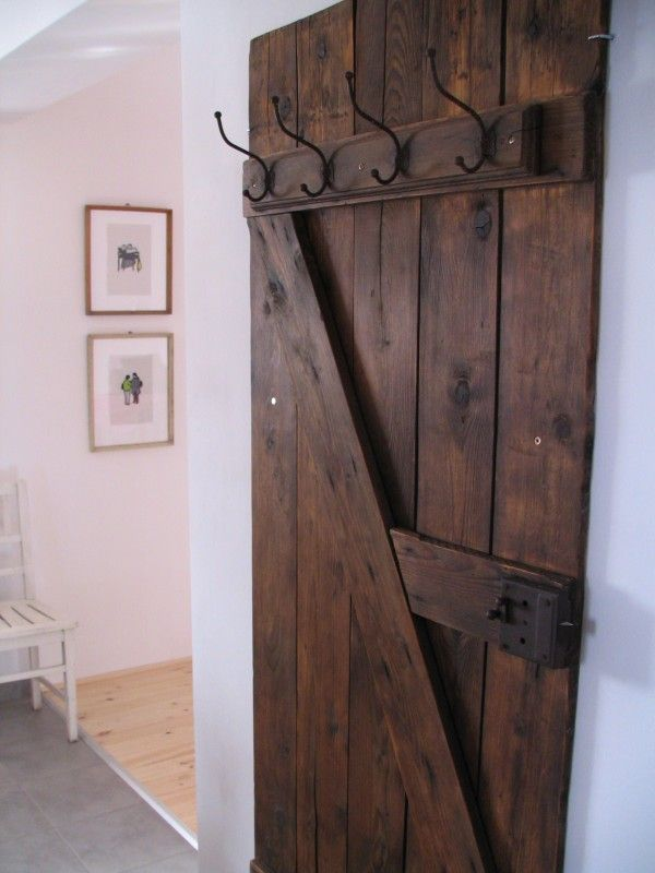 előszoba 023 600x800 Vintage door coat rack in wood furniture diy  with Vintage Door coat rack