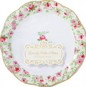 DAINTY CAKE PLATES $5.00!Parties Supplies, Teas Time, Party Supplies, Tea Parties, Parties Ideas, Parties Plates, Teas Parties, Paper Plates, Cake Plates