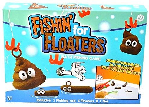 Fishin/' for floaters Bath Tub Game Bathroom Jokes Fun Novelty Family