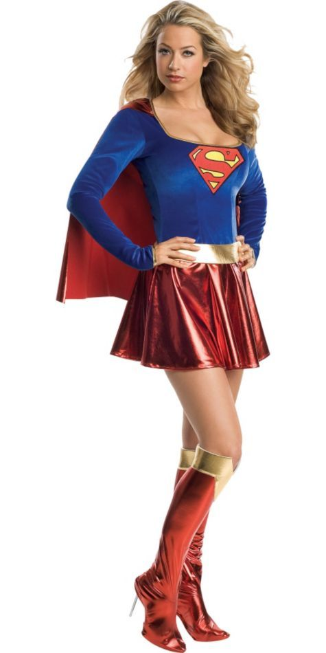 classic supergirl costume adult party city - Classic Womens Halloween Costumes