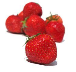 aardbeien bij panna cotta