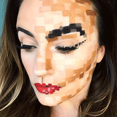 look created on pixel halloween makeup by top halloween looks - Fun Makeup Ideas For Halloween