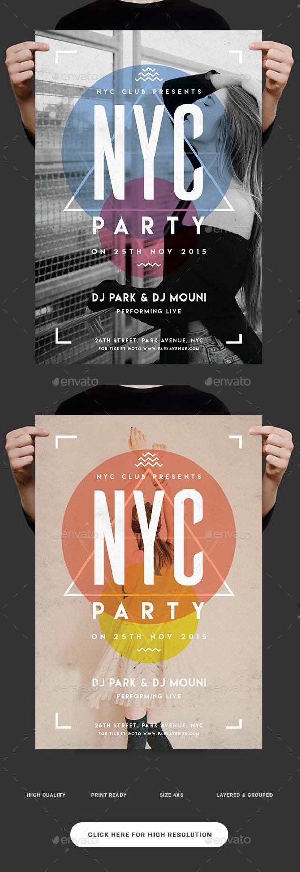 NYC Party Flyer. Download:https://graphicriver.net/item/nyc-party-flyer/18760890?ref=thanhdesign