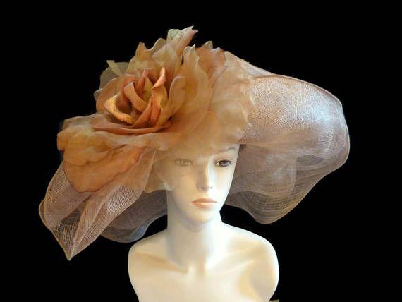 Kentucky Derby Hat sombrero de paja Sinamay estilo Abby