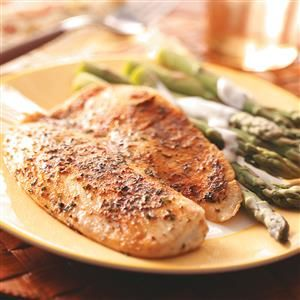 Seasoned Tilapia Fillets Recipe -If you need a healthy, keep-it-simple solution to dinner tonight, you just found it. This restaurant-quality dish relys on everyday spices to deliver big flavor. —Dana Alexander, Lebanon, Missouri