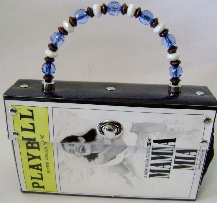 Mamma Mia Broadway Playbill Purse Winter Garden Theatre NYC Abba Musical Rare